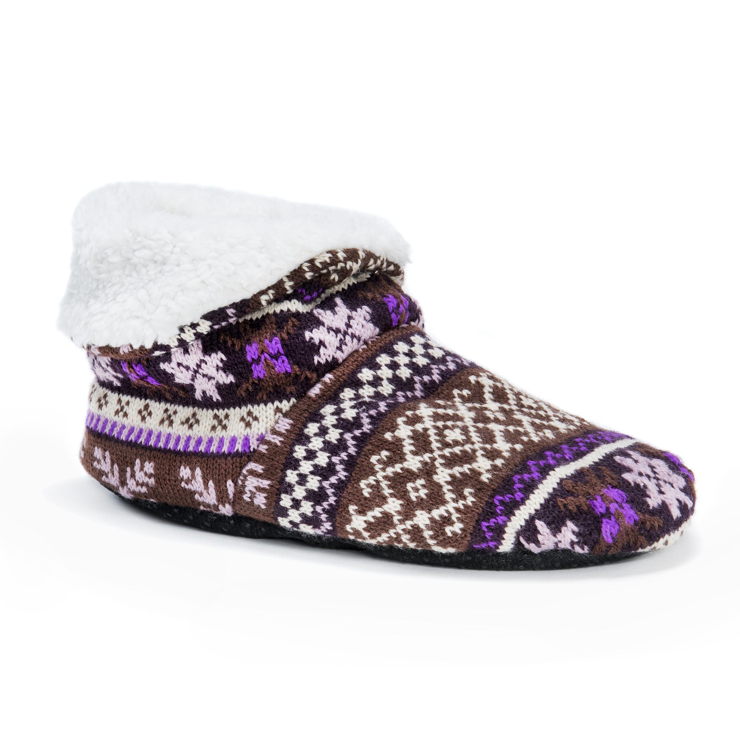 MUK LUKS® Women's Bootie Slippers – Plum | Slippers.com