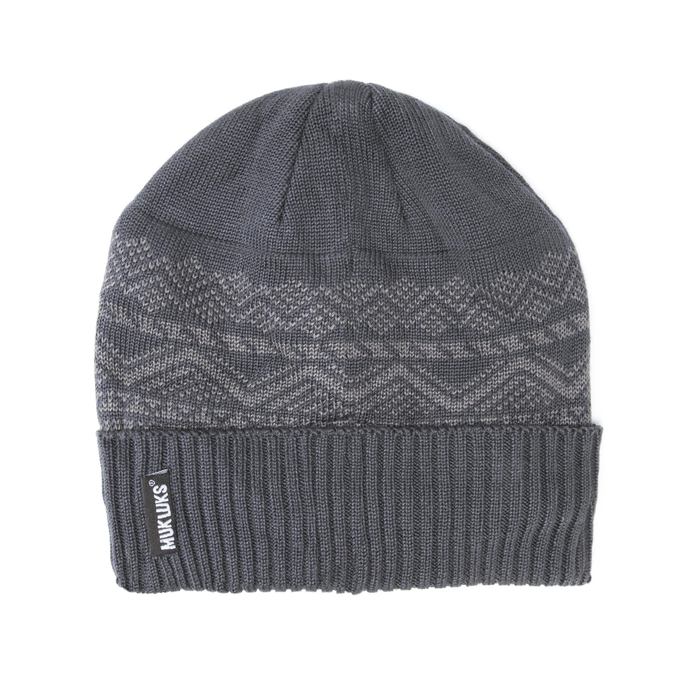 7f1f0e68dc5310 Men's Cuff Cap with Fleece Lining – Grey | Slippers.com - Shop Comfy
