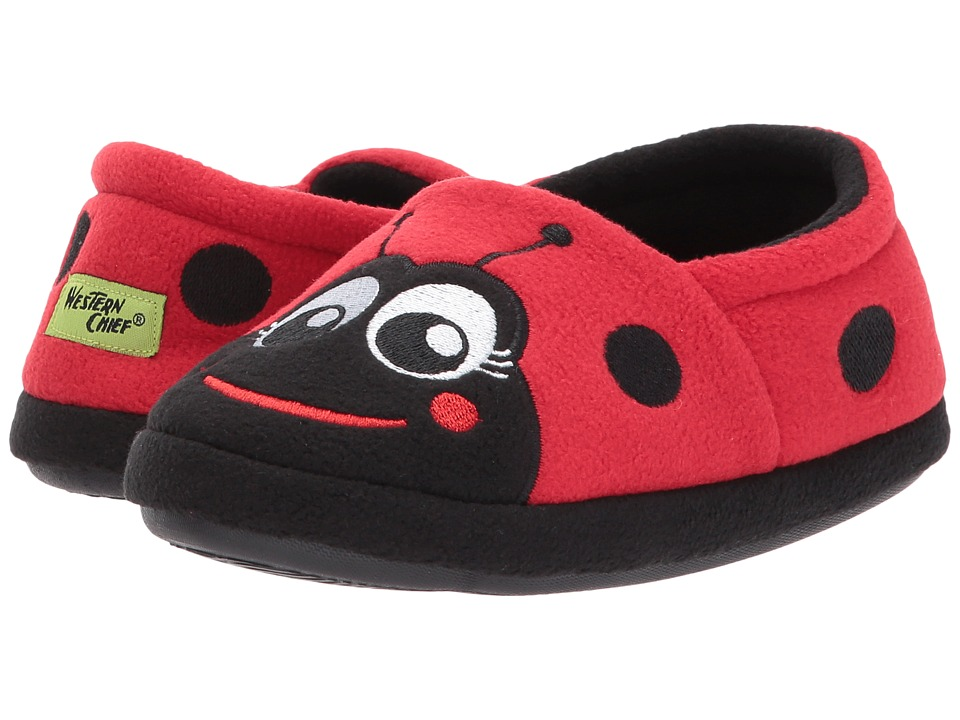 9efa4169ebb Western Chief Kids – Ladybug Slippers (Toddler Little Kid) (Red) Girls Shoes