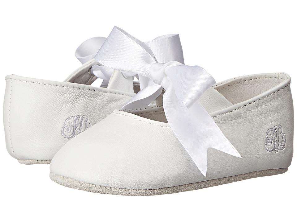 Polo Ralph Lauren Kids \u2013 Briley (Infant/Toddler) (White Lambskin) Girls  Shoes | Slippers.com - Shop Comfy