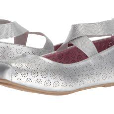 Jessica Simpson Kids - Madora (Little Kid/Big Kid) (Silver Patent) Girl's Shoes