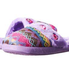 M&F Western Kids - Knit Print Slide Slippers (Toddler/Little Kid/Big Kid) (Purple) Girls Shoes