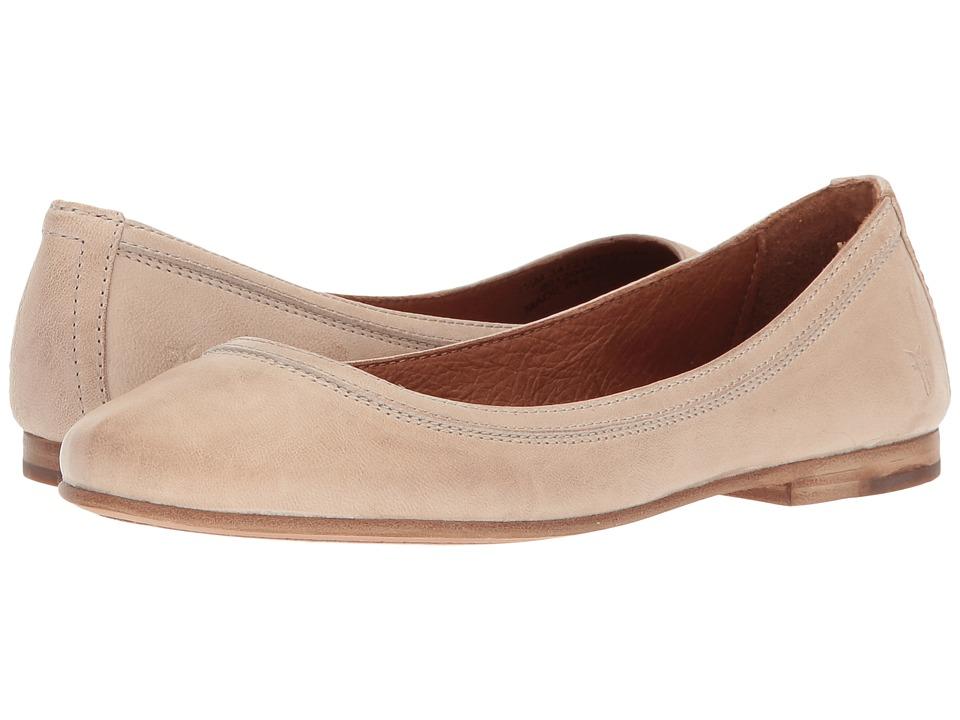 fb218136167 Frye Carson Ballet (Cream Antique Soft Vintage) Women s Flat Shoes ...