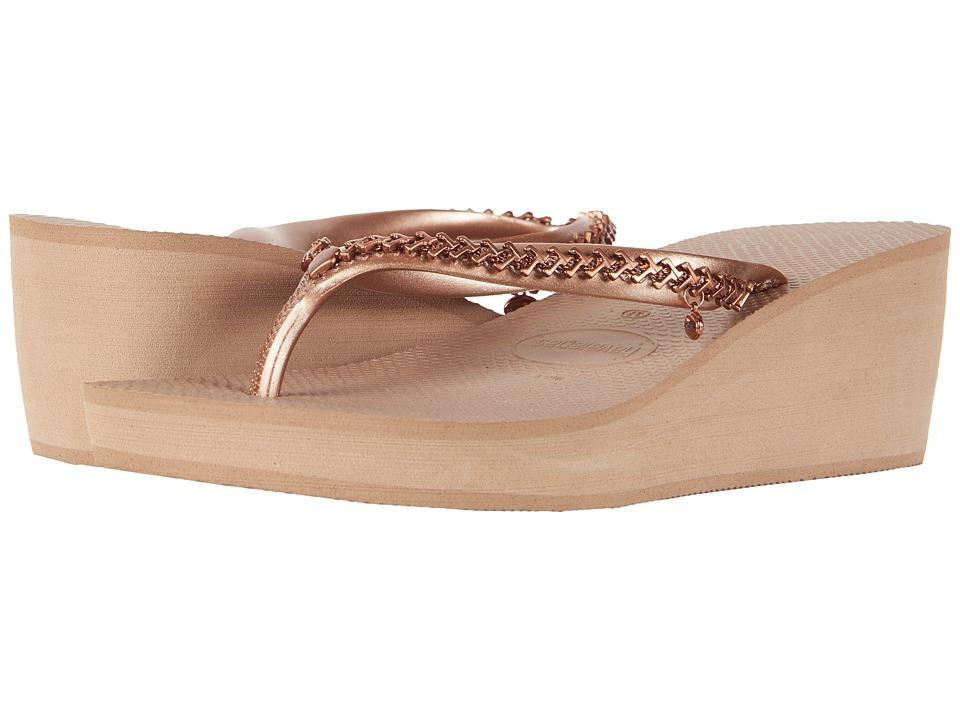 907295b83 Havaianas High Metal Grega Flip-Flops (Rose Gold) Women s Slippers ...
