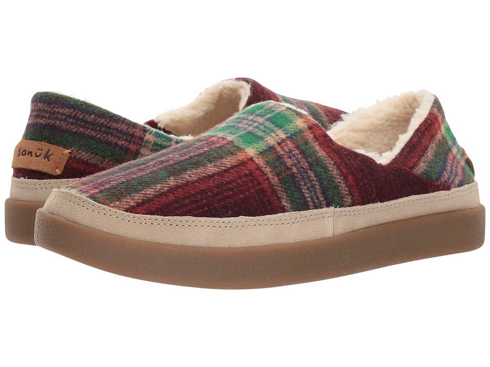 3c51173e55d21 Sanuk Little Bootah (Vintage Rainbow) Women's Slip on Shoes