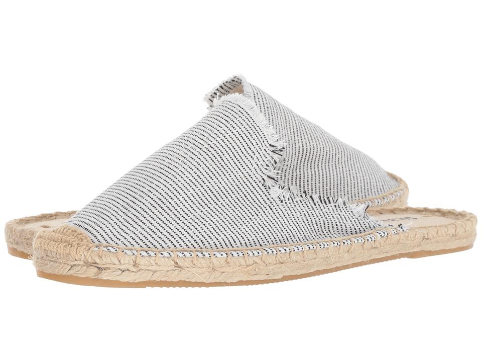 386979096b078 Soludos Frayed Mule (Natural/Black) Women's Clog/Mule Shoes