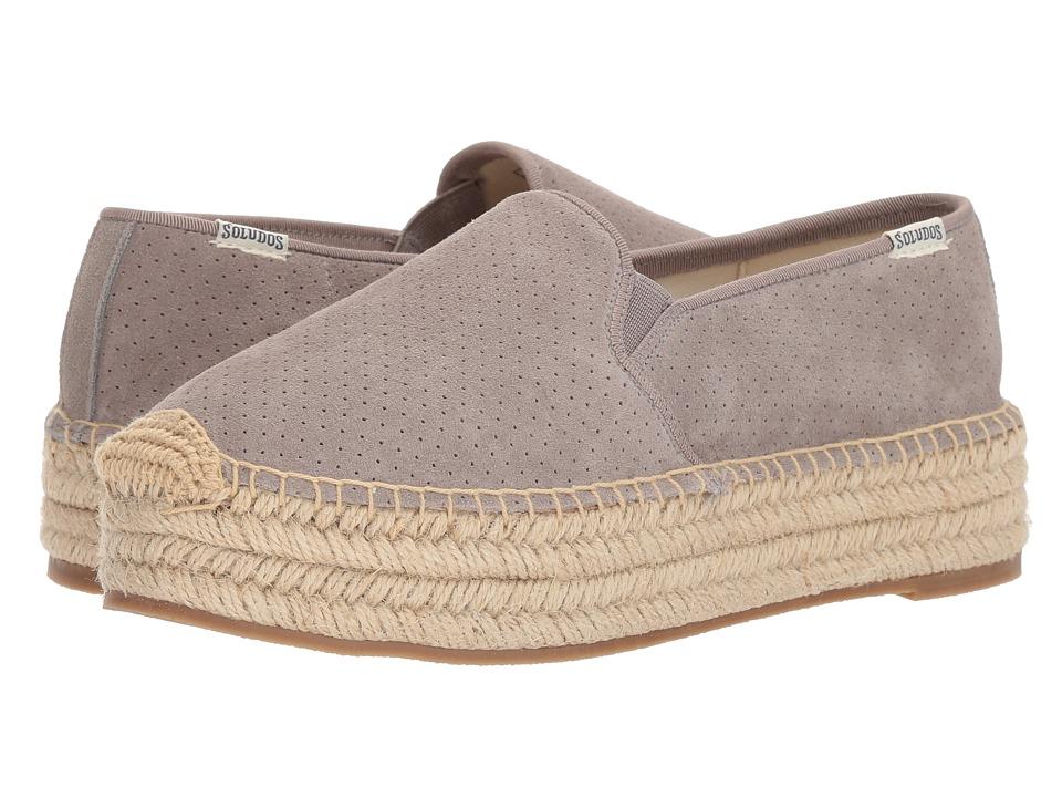 b08547f45a5 Soludos Malibu Platform Espadrille (Gray) Women's Slip on Shoes