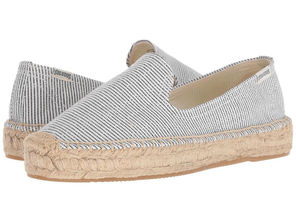 5ea88d18fe3 Soludos Platform Smoking Slipper (Natural Black) Women s Slip on Shoes