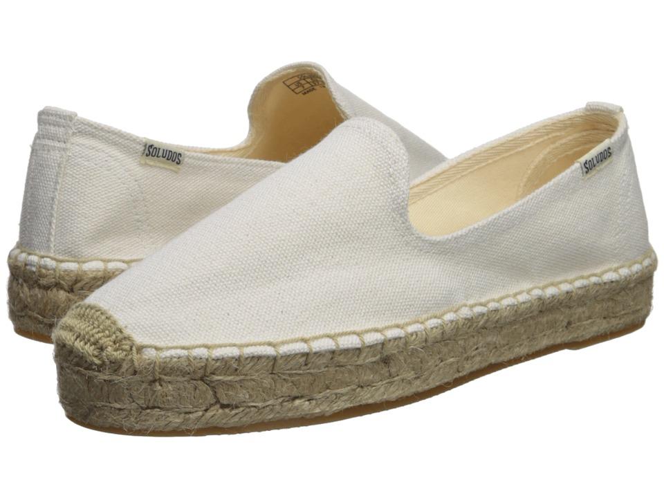 76a7139461e Soludos Platform Smoking Slipper (White 2) Women s Slip on Shoes ...
