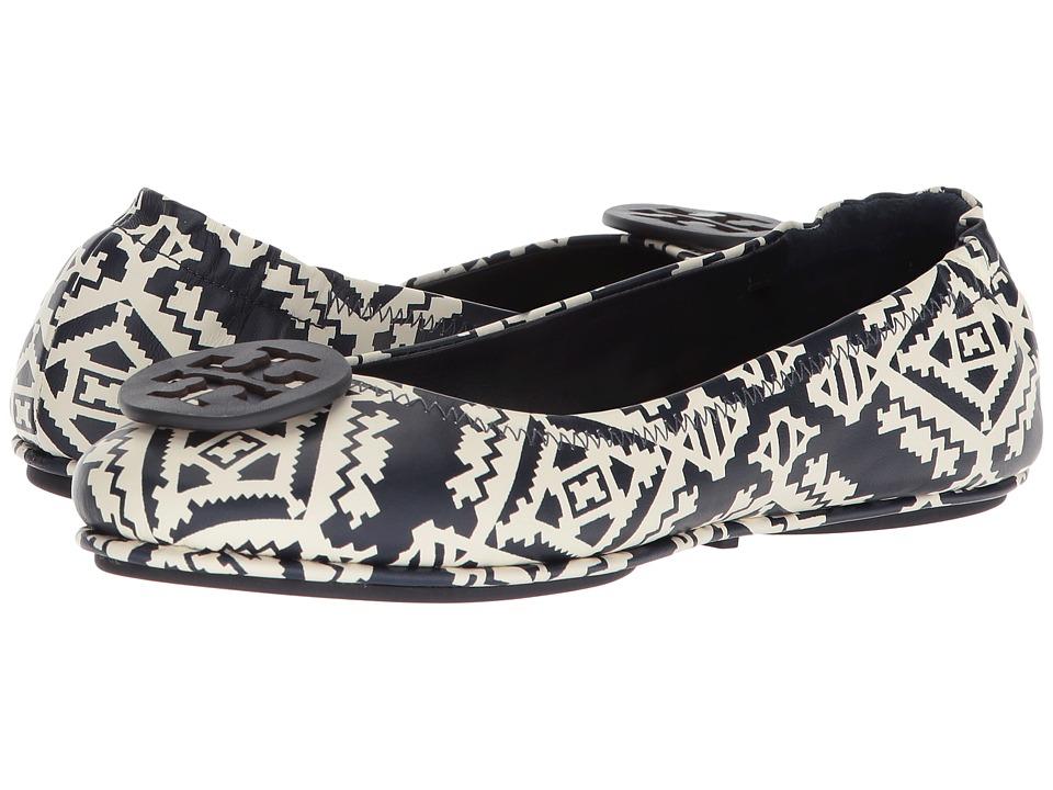 434e995d4 Tory Burch Minnie Travel Ballet Flat (Tapestry Geo) Women s Shoes ...