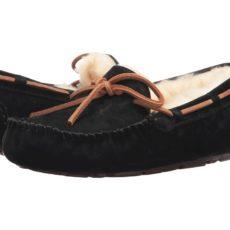 UGG Dakota (Black Suede) Women's Moccasin Shoes