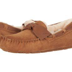 UGG Dakota Leather Bow (Chestnut) Women's Moccasin Shoes