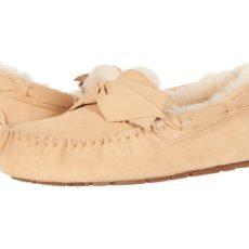 UGG Dakota Leather Bow (Soft Ochre) Women's Moccasin Shoes
