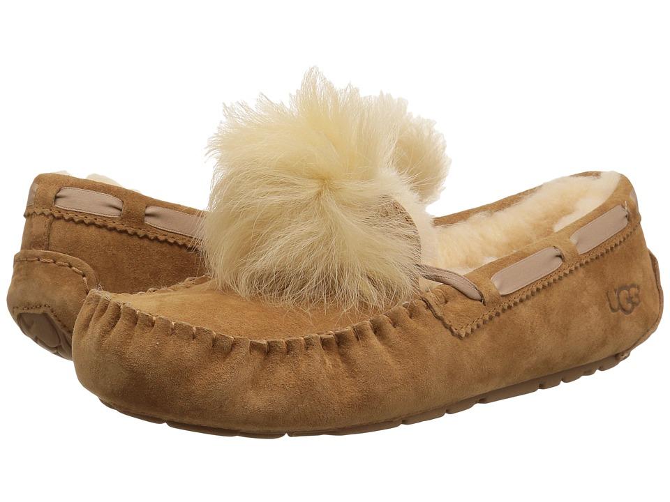 55dabe70ef UGG Dakota Pom Pom (Chestnut) Women s Flat Shoes