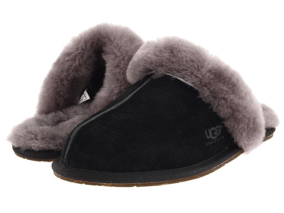 8a6d1c3687d UGG Scuffette II Water-Resistant Slipper (Black/Grey Suede) Women's Slippers