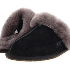 UGG Scuffette II (Black/Grey Suede) Women's Slippers
