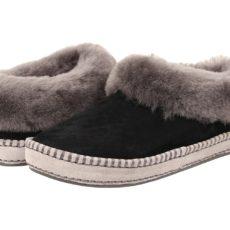UGG Wrin (Black Suede) Women's Slip on Shoes