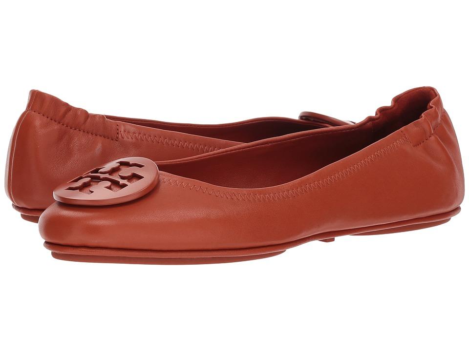 a607da0f159a Tory Burch Minnie Travel Ballet Flat (Arabian Spice) Women s Shoes ...