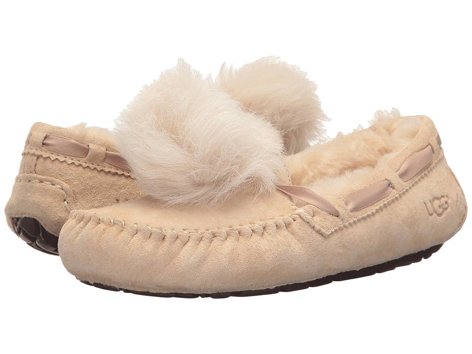 f23290f7e6a4 UGG Dakota Pom Pom (Cream) Women s Flat Shoes