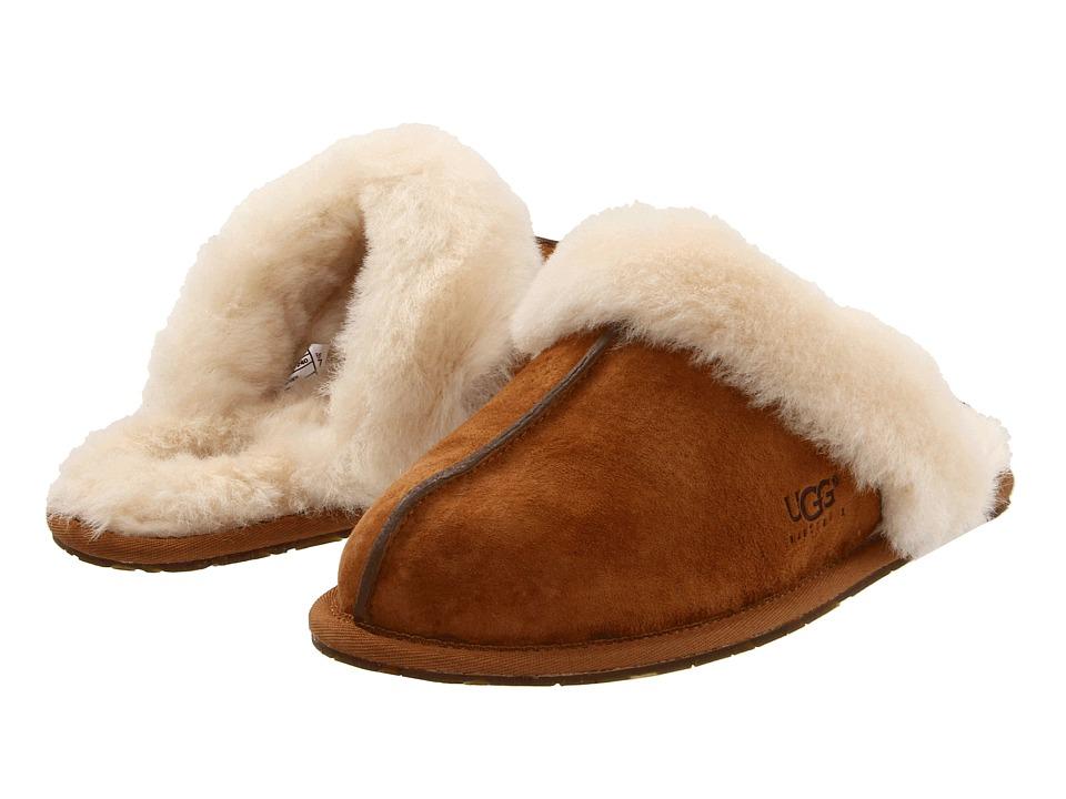 d17b7364089 UGG Scuffette II Water-Resistant Slipper (Chestnut (Suede)) Women's Slippers