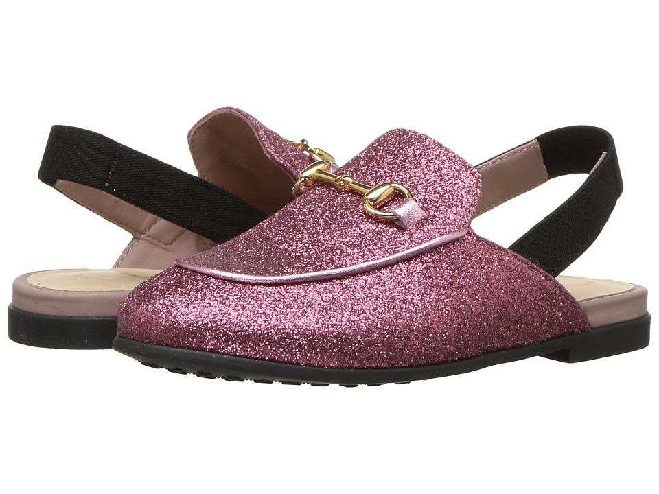Gucci Kids Princetown Metallic Slipper (Toddler) (Rose) Girls Shoes
