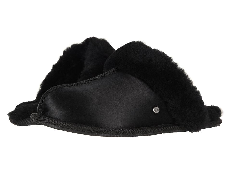 33ec5072f UGG Scuffette II Satin (Black) Women s Slippers