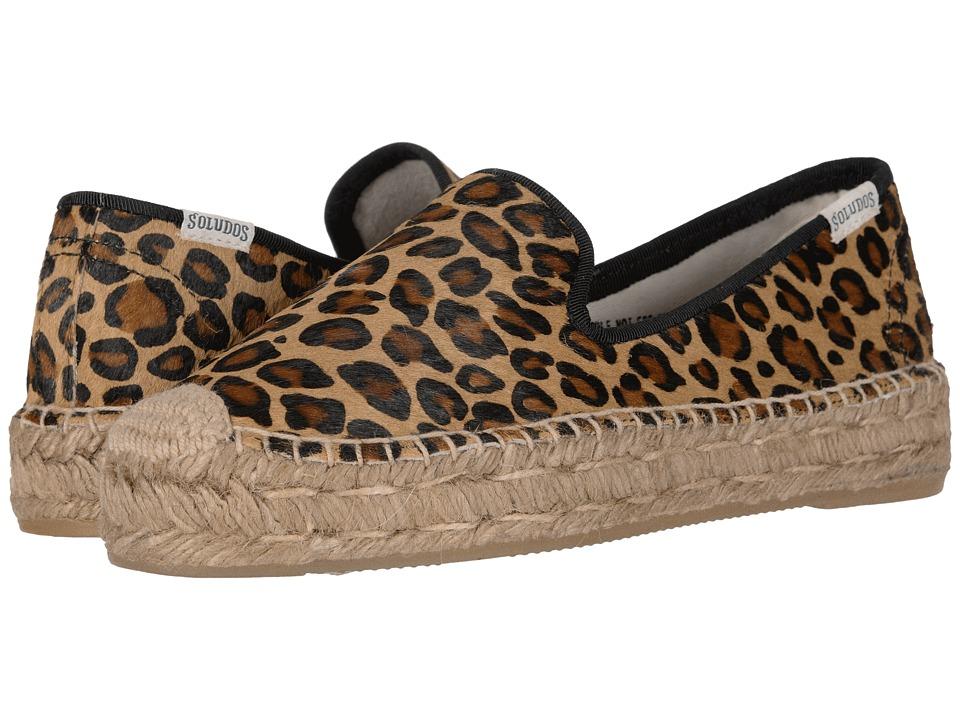 092cf20df748 Soludos Haircalf Platform Smoking Slipper (Leopard) Women's Shoes ...