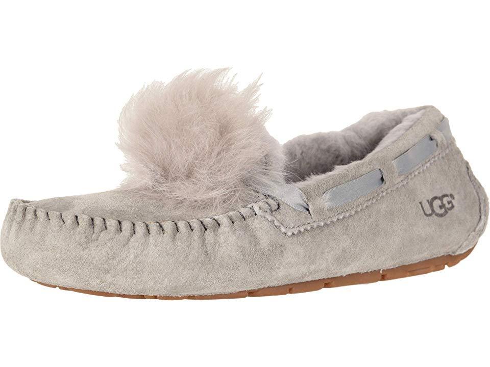 066739e0829c UGG Dakota Pom Pom (Seal) Women s Flat Shoes