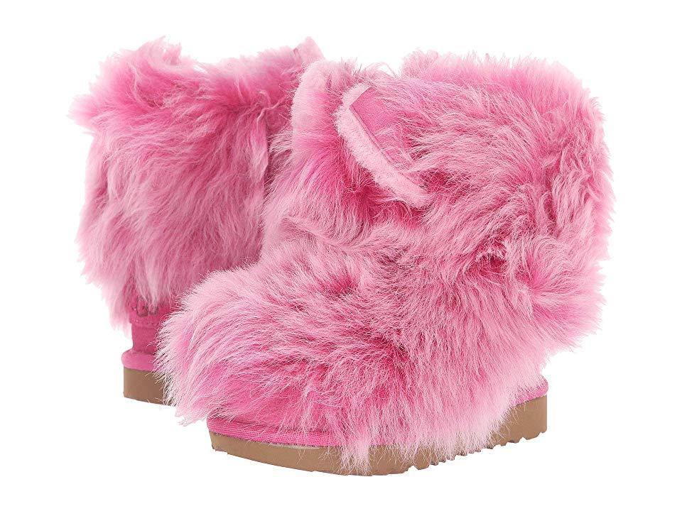 946c8555c25 UGG Kids Pinkipuff Classic II (Toddler/Little Kid) (Pink Azalea) Girls Shoes