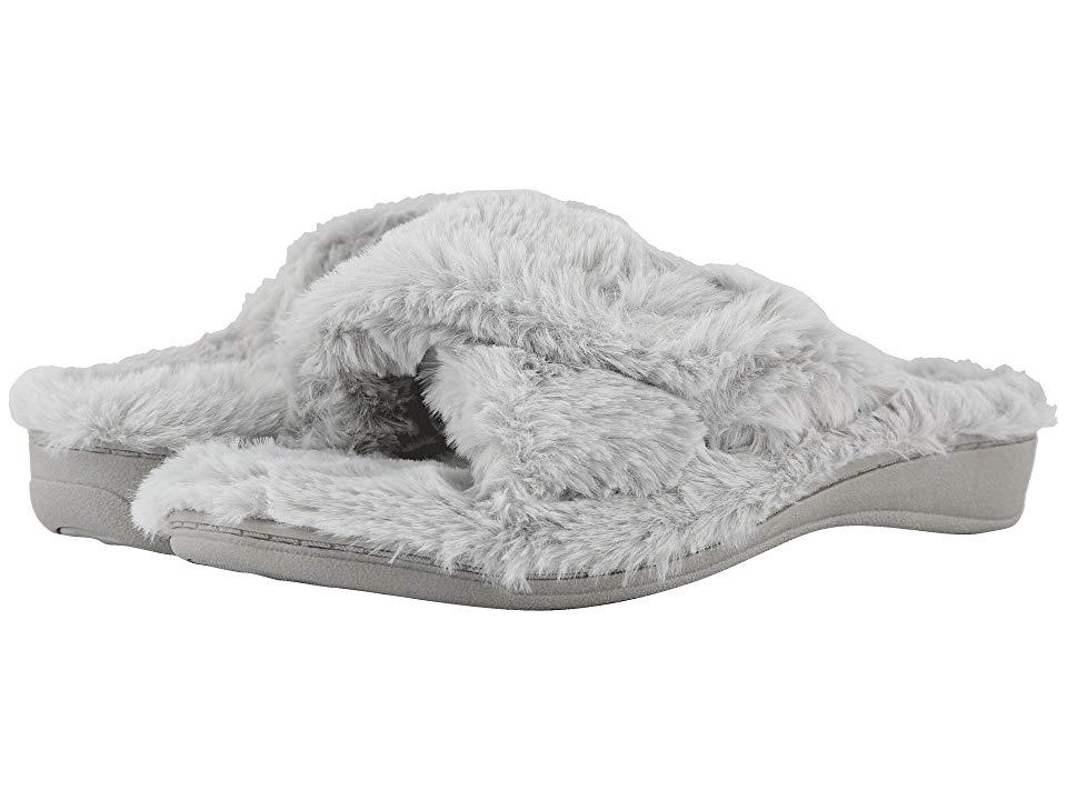 b45371e9b5a3 VIONIC Relax Plush (Light Grey) Women s Slippers
