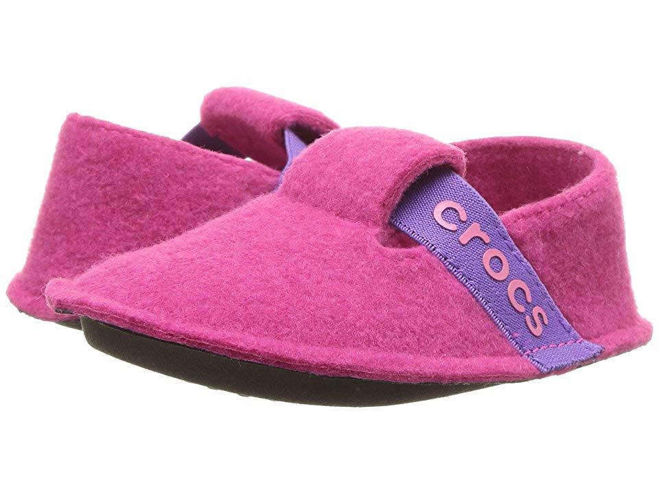 4b7f46186 Crocs Kids Classic Slipper (Toddler Little Kid) (Candy Pink) Kids Shoes