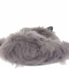Steve Madden Furry (Grey Fabric) Women's Slippers