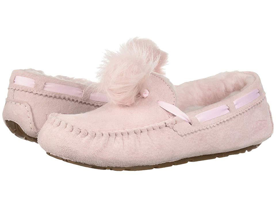 e468f82957a UGG Dakota Pom Pom (Seashell Pink) Women's Flat Shoes