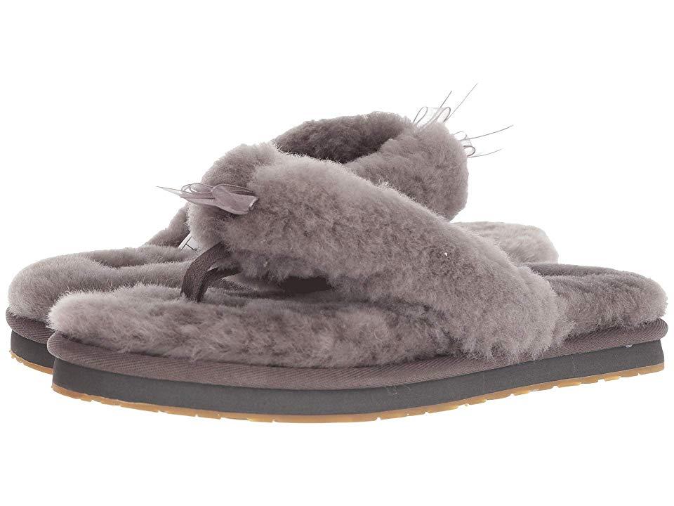 e62982d15 UGG Fluff Flip Flop III (Grey) Women s Slippers