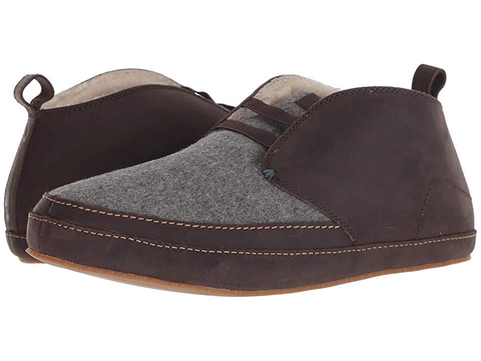 38fe32190d1 OluKai Moloa Slipper Mid (Dark Roast Dark Roast) Men s Slippers ...