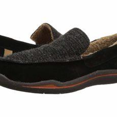 Acorn Ellsworth Suede Moc (Black) Men's Slippers