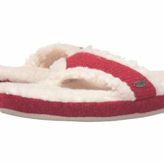 Acorn Thong Ragg (Red Ragg Wool) Women's Slippers