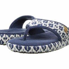 Acorn Thong Summerweight (Navy Tribal) Women's Slippers