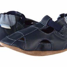 Robeez Fisherman Sandal (Infant/Toddler) (Navy) Boys Shoes