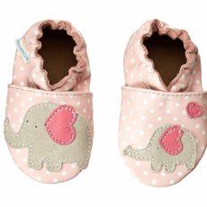 Robeez Little Peanut Soft Soles (Infant/Toddler) (Pastel Pink) Girls Shoes