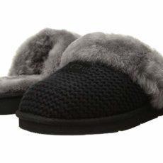 UGG Cozy Knit Slipper (Black) Women's Slippers