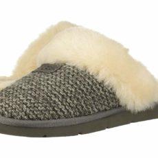 UGG Cozy Knit Slipper (Charcoal) Women's Slippers