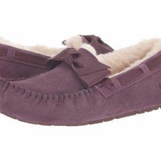 UGG Dakota Leather Bow (Port) Women's Moccasin Shoes