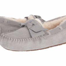UGG Dakota Leather Bow (Seal) Women's Moccasin Shoes