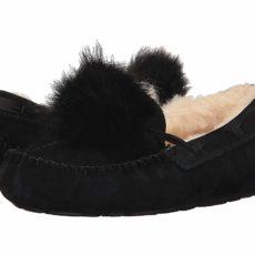 UGG Dakota Pom Pom (Black) Women's Flat Shoes
