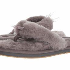 UGG Fluff Flip Flop III (Grey) Women's Slippers