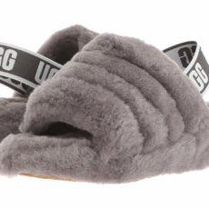 UGG Fluff Yeah Slide (Charcoal) Women's Slippers