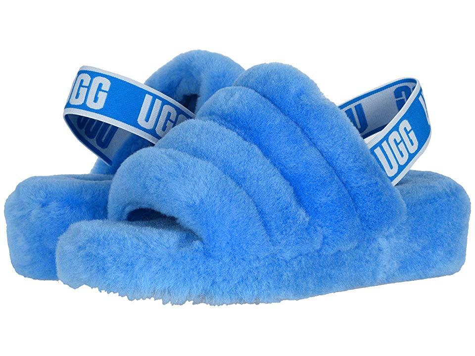 UGG Fluff Yeah Slide (Neon Blue) Women