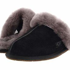 UGG Scuffette II Water-Resistant Slipper (Black/Grey Suede) Women's Slippers