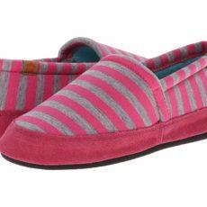 Acorn Acorn Moc Summerweight (Pink Stripe) Women's Slippers